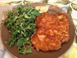 Panko Chicken and Arugula Salad with Lemon Parmesan Dressing   Healthy entrees, Panko chicken ...