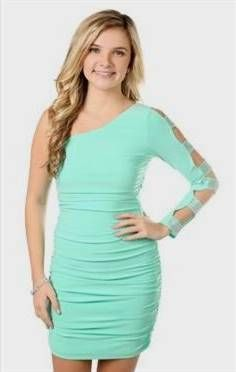 One Shoulder Tight Homecoming Dresses
