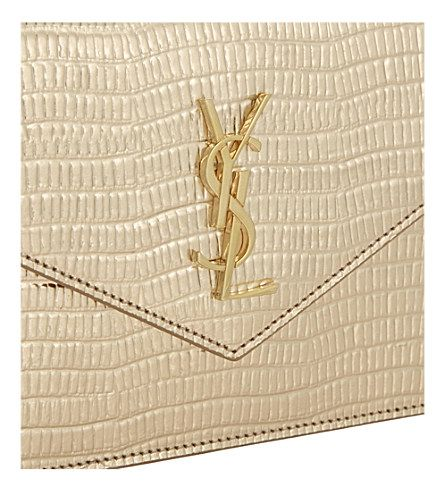 SAINT LAURENT - Monogram envelope chain wallet | Selfridges.com