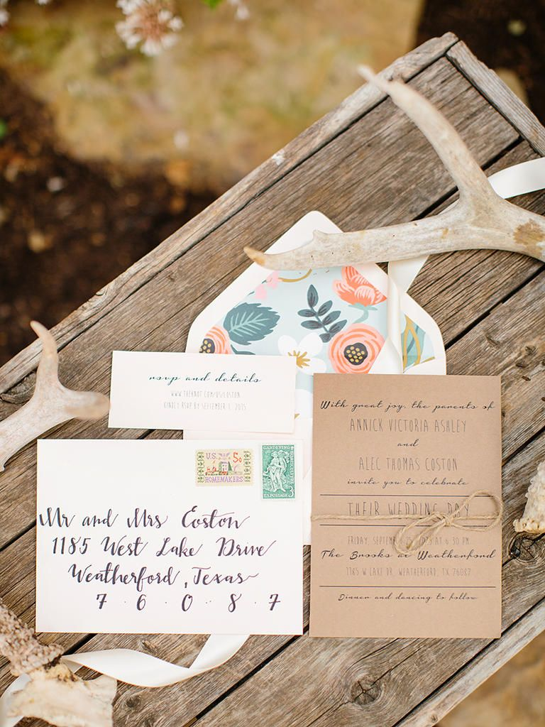 diy wedding invites rustic%0A Calligraphy is all the rage for rustic wedding features  Hire your BFF or  practice your