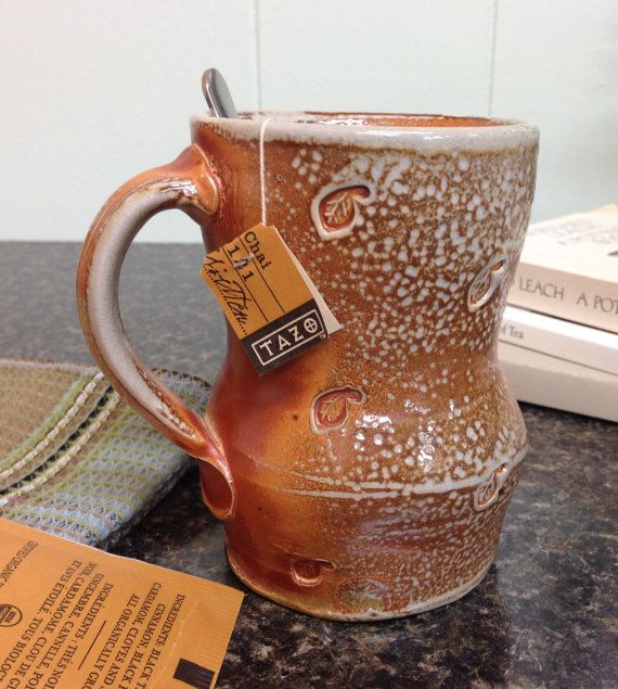 Free Shipping. Coffee or Tea Mug. Soda Fired by Ron Philbeck Pottery