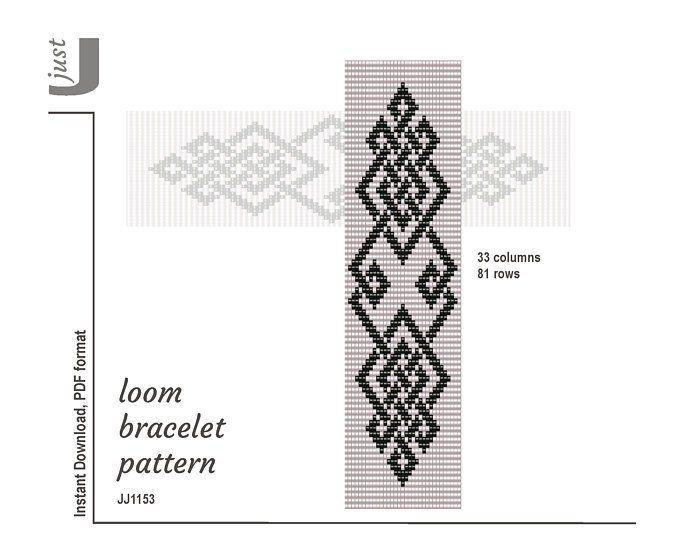 Loom bracelet pattern, beading, pdf pattern, loom bracelet