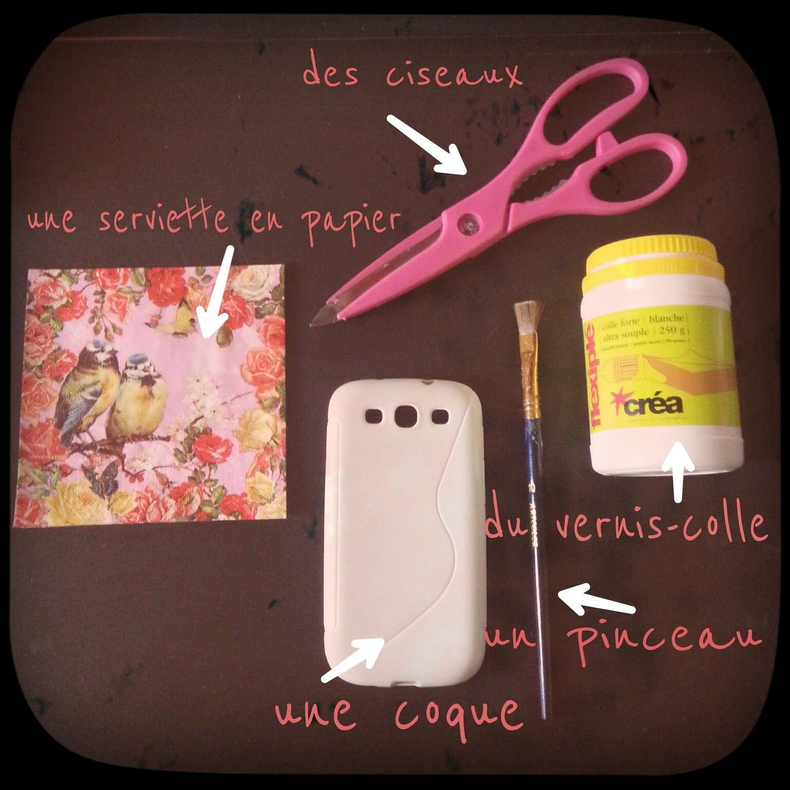 Favori diy, customisation, coque de téléphone, serviettage | Coque de  UR22