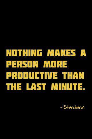 Makes a person more productive