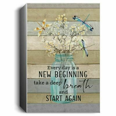 Dragonfly Every Day is A New Beginning Take A Deep Poster No Frame #fashion #home #garden #homedcor #postersprints (ebay link)