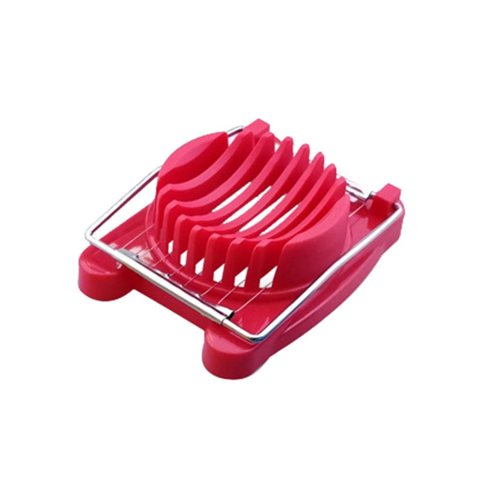 Creative Stainless Steel Egg Slicer Cutter Divider Home Kitchen Gadget Tool - Red