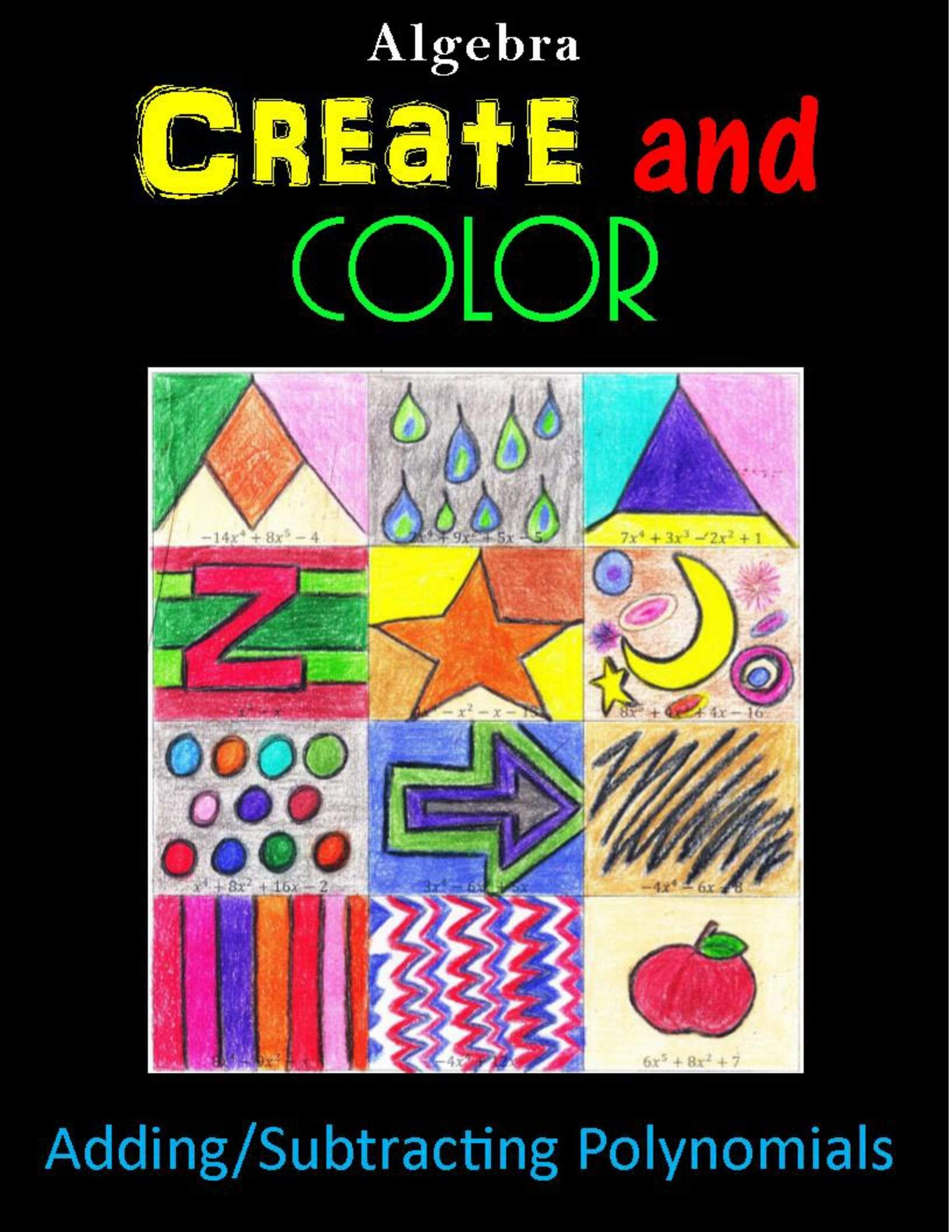 Geometry Skills Color By Number Bundle 1 10 Essential