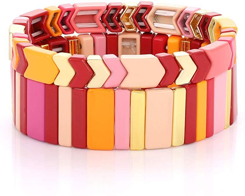 boderier enamel tile bracelet multi