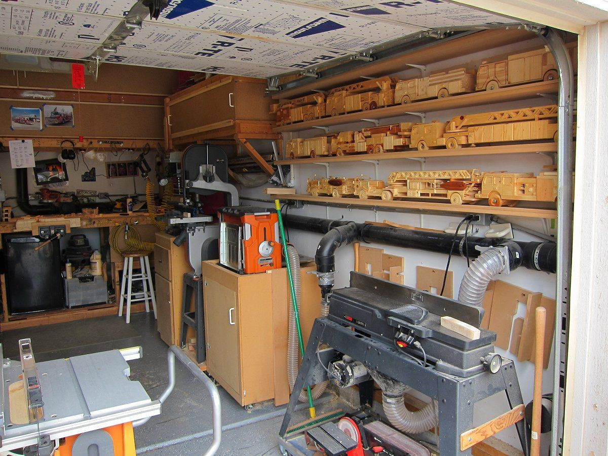 wood working garage six finger firemen woodworking wood shop click on photo to [ 1200 x 900 Pixel ]