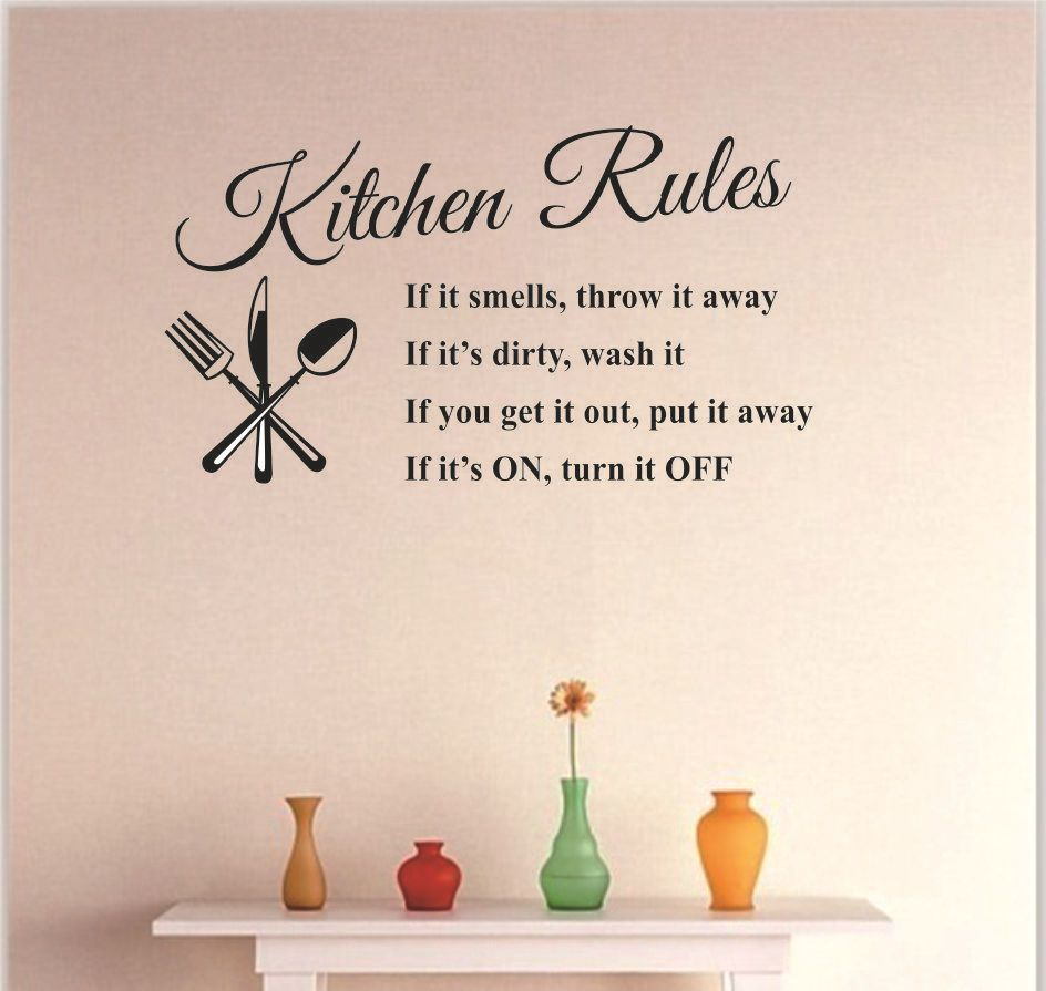 Kitchen Rules Wall Stckers Kitchen Restaurant English Proverbs Wall Sticker Home Decora Wall D Kitchen Wall Stickers Wall Stickers Home Decor Diy Wall Stickers