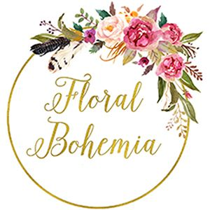 floral bohemia flower crown hen parties logo wedding