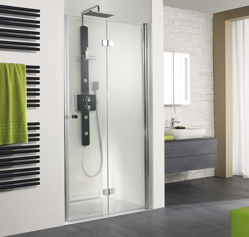 Hsk Showers Enclosures Exklusiv Pivoting Bi Fold Shower Doors 1000 German Hsk Exklusiv Shower Doors By Vesta B Bifold Shower Door Ideal Bathrooms Shower Doors