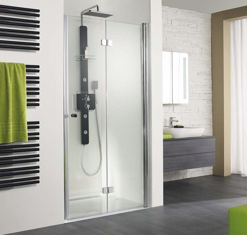 Hsk Showers Enclosures Exklusiv Pivoting Bi Fold Shower Doors 1000 German Hsk Exklusiv Shower Doors By Vesta B Bifold Shower Door Ideal Bathrooms Shower Doors