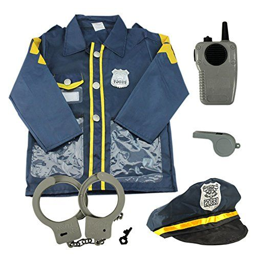 TopTie Child Police Officer Costumes Cop Role Play Costumes NAVYBLUES