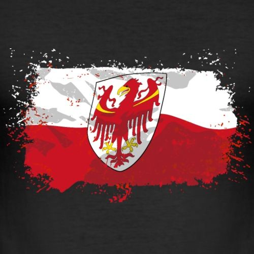 Sudtirol Flagge T Shirts Manner Slim Fit T Shirt Sudtirol