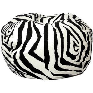 Classic Garbadine Bean Bag Love The Fun Pattern Here With Enlarged Zebra Available