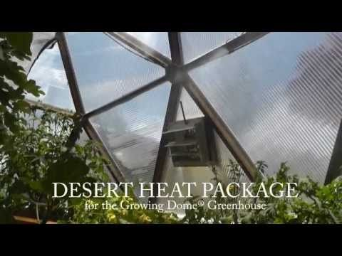 Greenhouse Desert Heat Package Accessories Cooling Fan Misting System Solar Greenhouses I Want One Of These