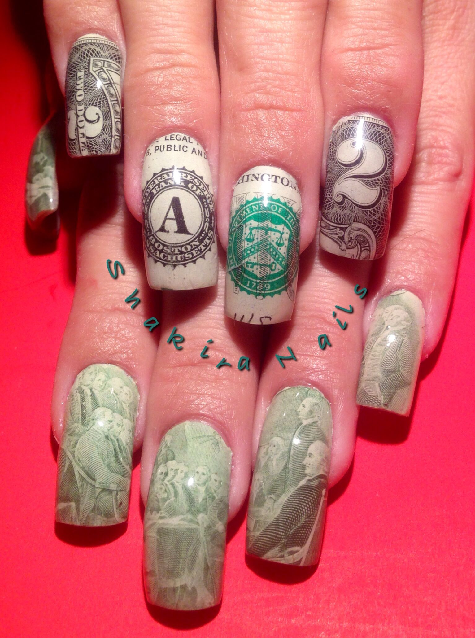 Las Vegas money nails December 2013 | Nails | Pinterest | Nagelschere