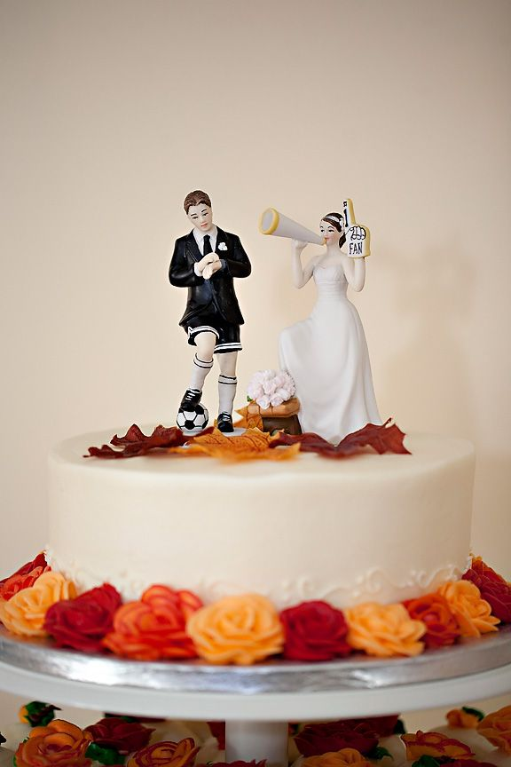 Soccer lovers wedding cake topper! - Fall Wedding | Wedding ideas ...