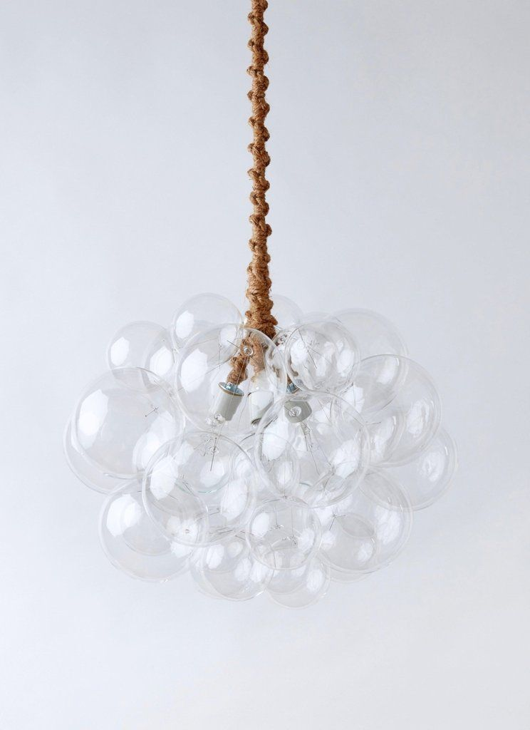 The 31 Glass Bubble Chandelier is a perfect statement lighting fixture for your dining room, living room or anywhere you want to make a statement. #statementlighting #lightfixtures #modernlighting