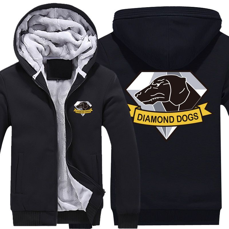 MGS Metal Gear Solid V 5 The Phantom Pain Diamond Dogs Logo Zip Up Fleece  Hoodie  Unbranded  Hoodie b3a28c40a