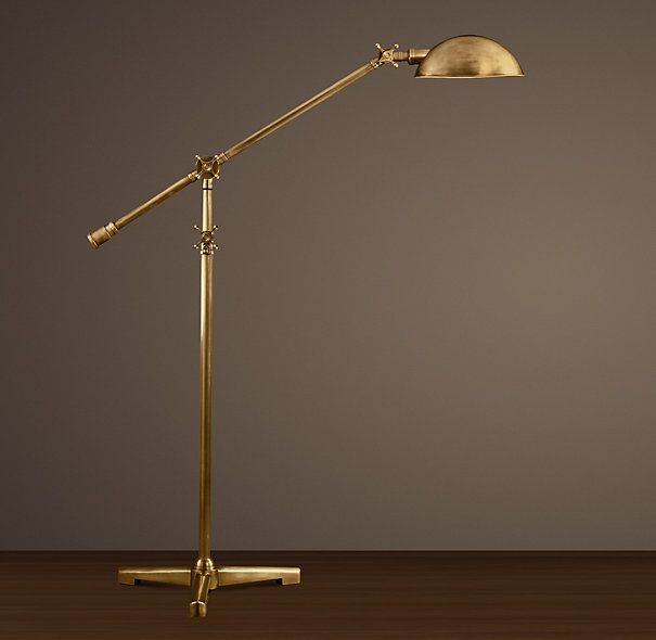 Necessary Rowan Pharmacy Task Floor Lamp Antique Brass   Task. Restoration Hardware CLARIDGE SINGLE SCONCE WITH METAL SHADE