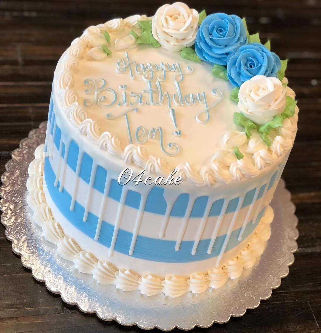 Chocolate sponge cake and rose cake decoration ...