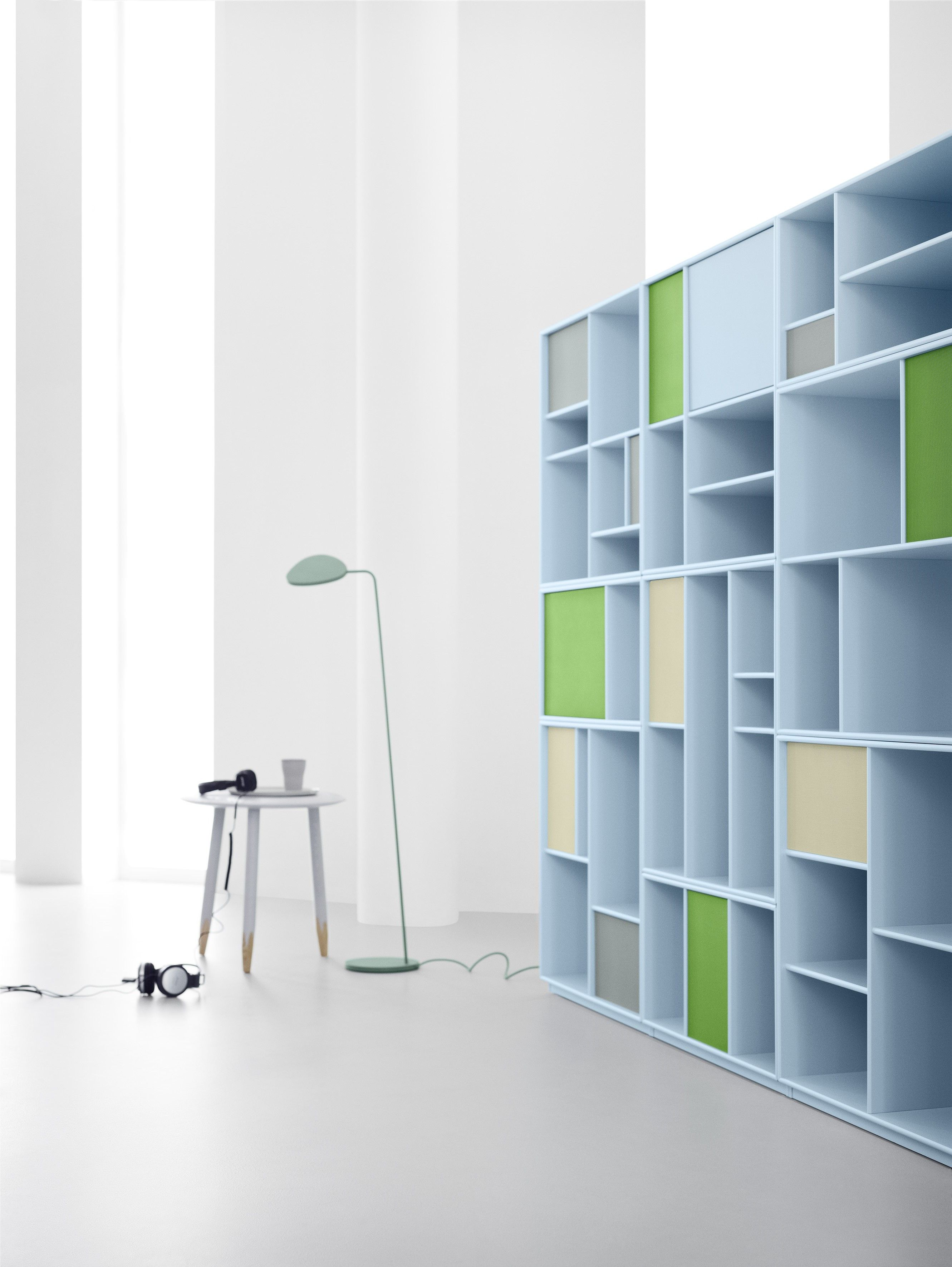 Bookshelf In The Light Blue Peppermint Montana Furniture Danish Design Shelving System Pastels