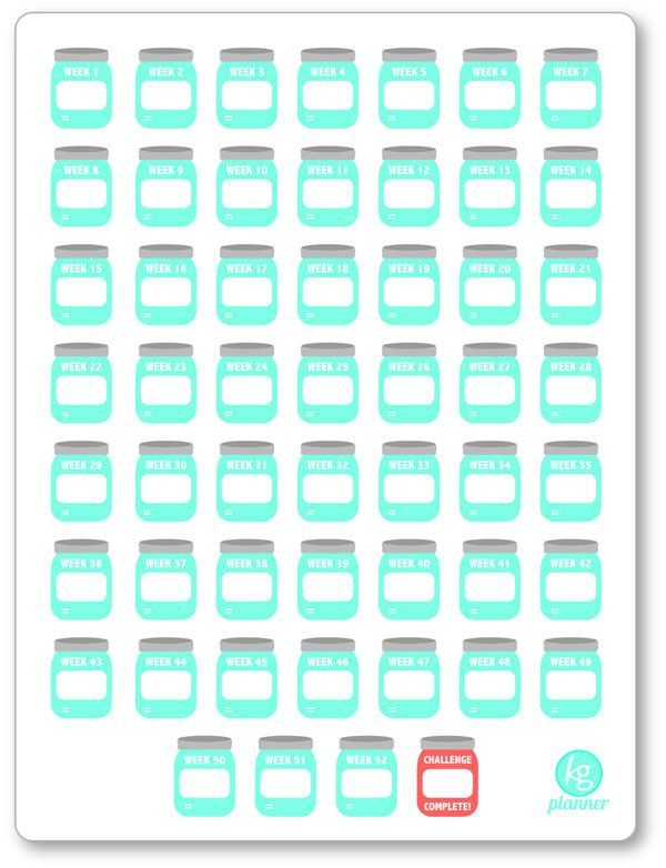 Blank create your own 52 week savings challenge pdf for Create your own penny