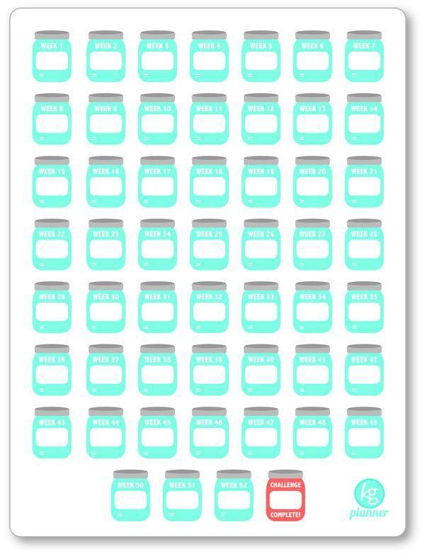 Blank 52 Week Savings Challenge Pdf Printable