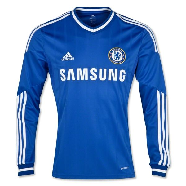 Chelsea 13 14 LS Home Soccer Jersey  ab2e7bc62