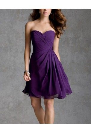 Robe courte cocktail prune