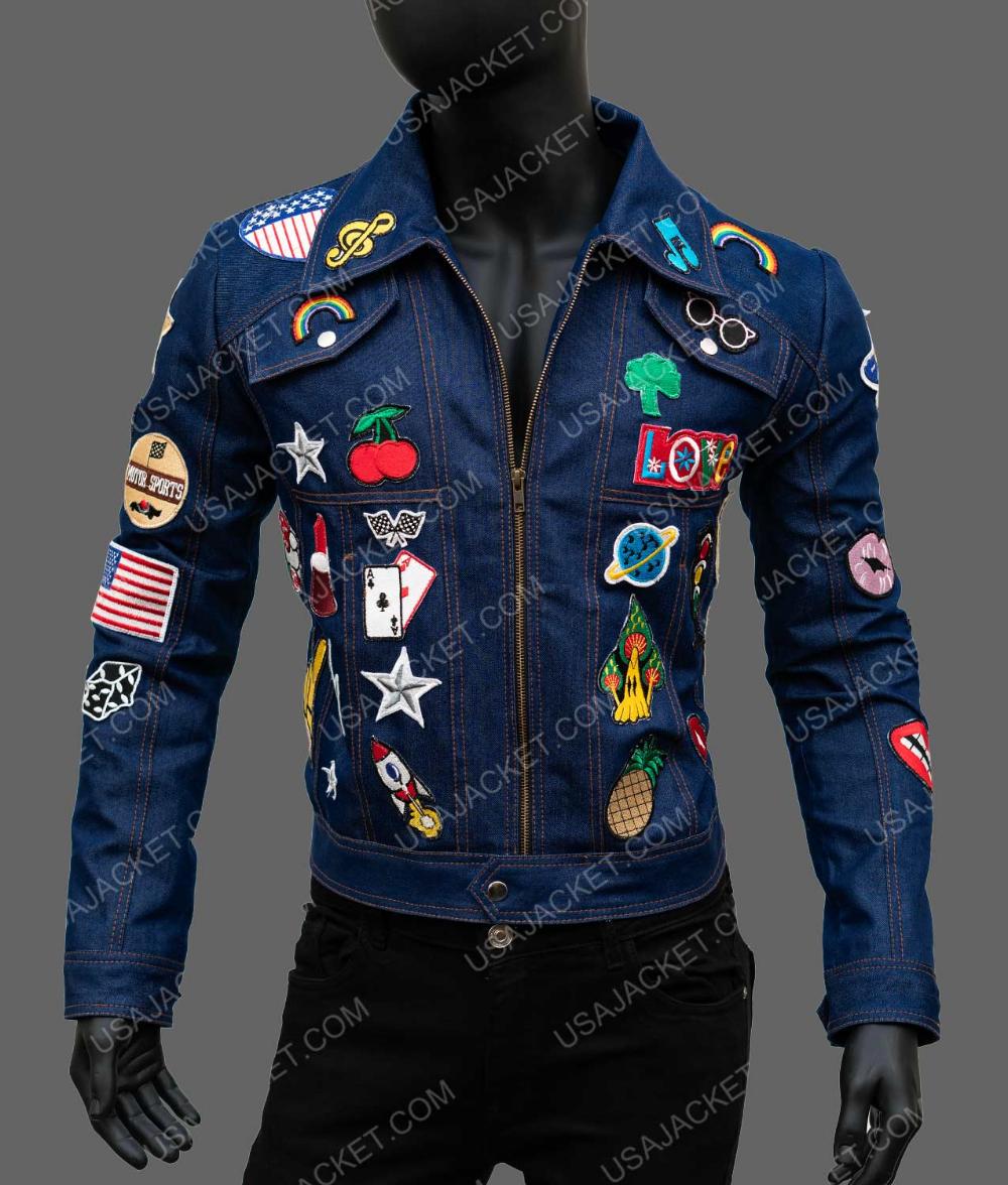 Rocketman Elton John Denim Jacket With Patches Jackets Denim Jacket Patches Denim Jacket [ 1176 x 1000 Pixel ]