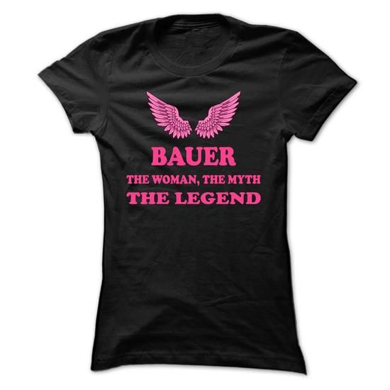 BAUER, the woman, the myth, the legend - #cool tee #superhero hoodie. BUY TODAY AND SAVE => https://www.sunfrog.com/Names/BAUER-the-woman-the-myth-the-legend-ticegckbfq-Ladies.html?68278