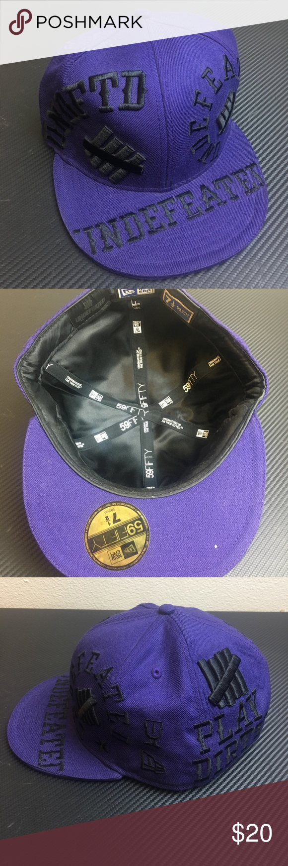 New Era X Undefeated Fitted Hat Size 7 1 2 Fitted Hats New Era Clothes Design