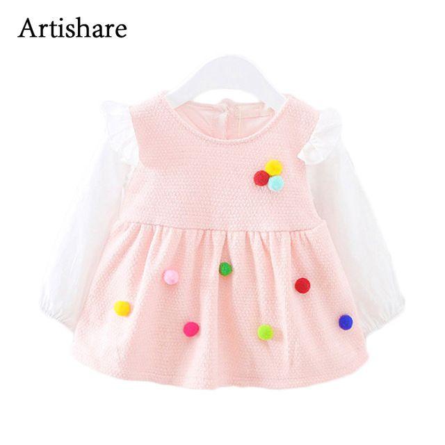 d4f1cb496 Artishare Baby Dresses Princess Cotton Baby Girl Dresses Newborn ...