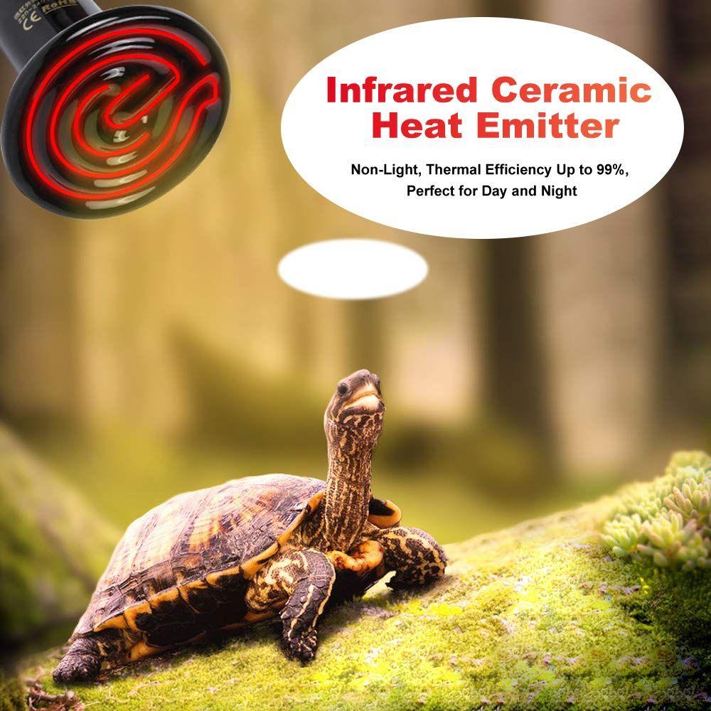 Petloft 2 Pack Ceramic Heat Emitter Ac 90 120v Infrared Non Light