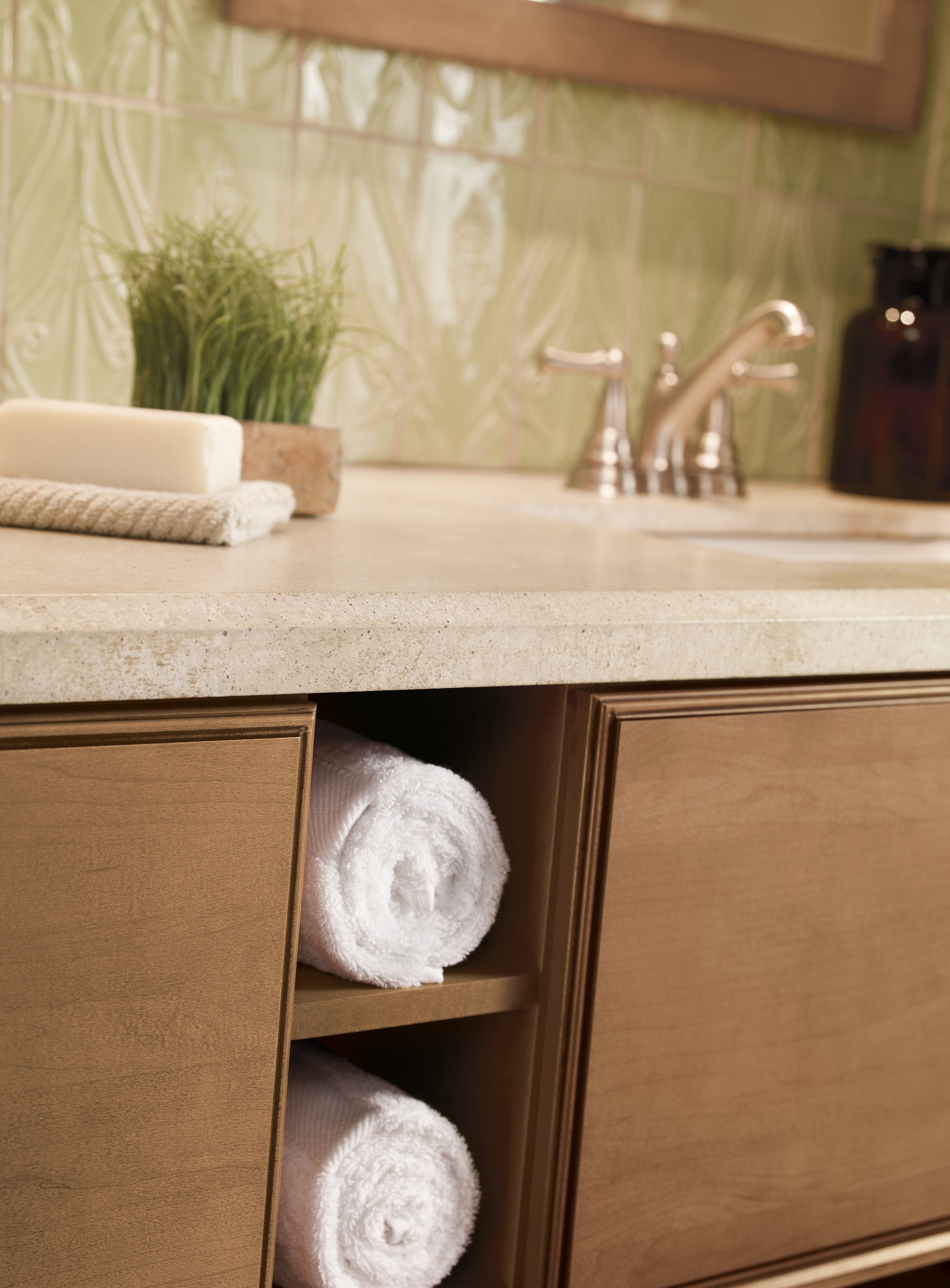 Towel storage niche. See more at www.cabinetsolutionsusa.com ...