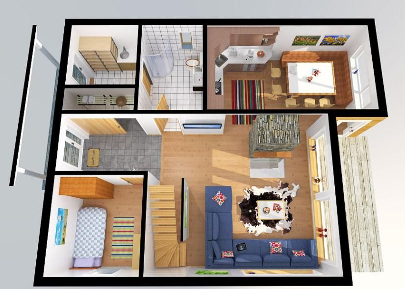 Plano del primer piso sala de la casa planos de casas for Diseno de apartamentos de 90 metros cuadrados