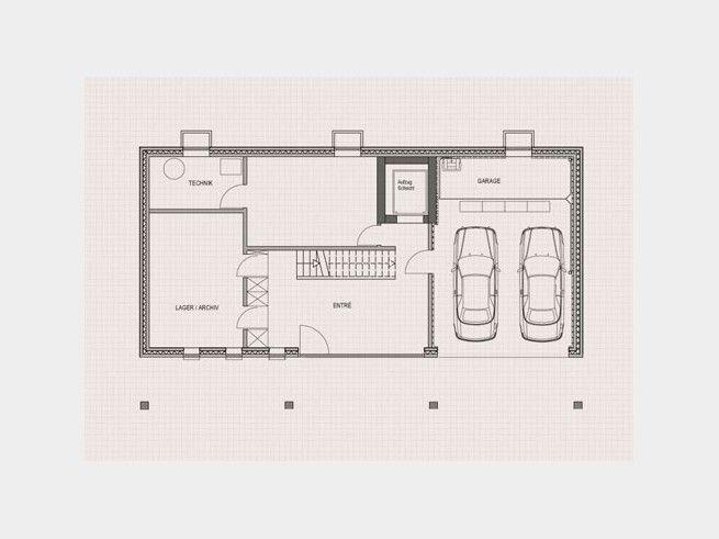 Grundriss einfamilienhaus mit doppelgarage  Grundriss KG Stadthaus Schwaab #Einfamilienhaus von Baufritz. Der ...