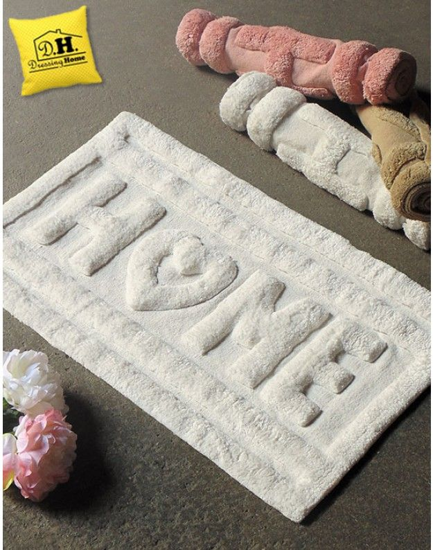 Tappeto bagno Shabby Chic Home in White Angelica Home & Country Colore Bianco