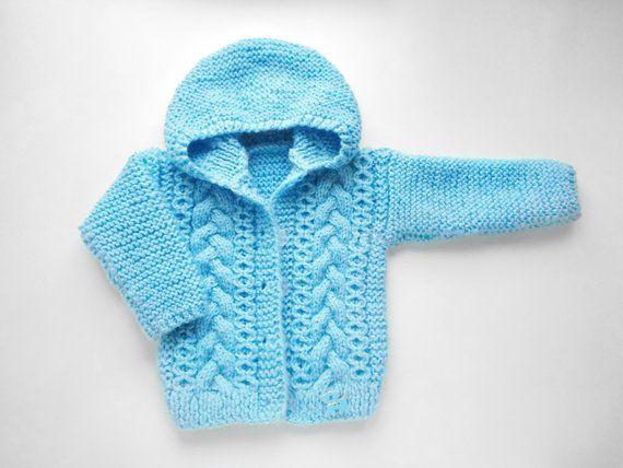 9a005801b Warm hooded cardigan for newborn