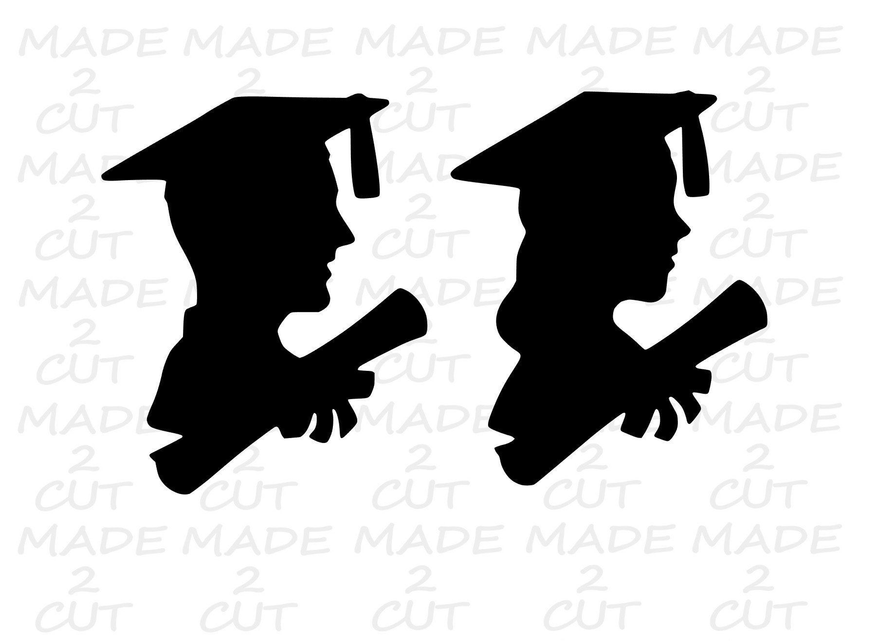Graduation Svg Cap And Gown Design Boy Girl Graduation Etsy In 2021 Graduation Silhouette Girl Silhouette Cap And Gown