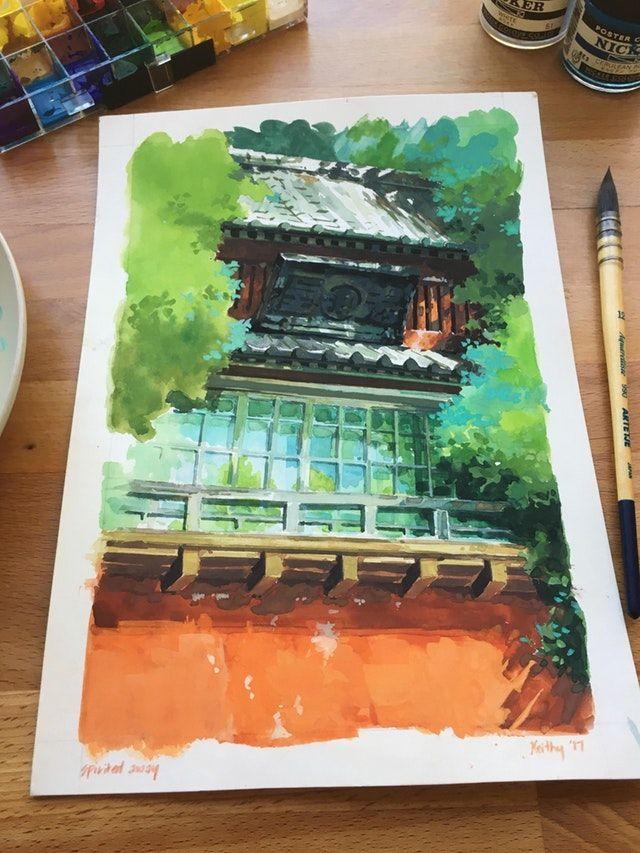 Spirited Away background study ghibli Ghibli art