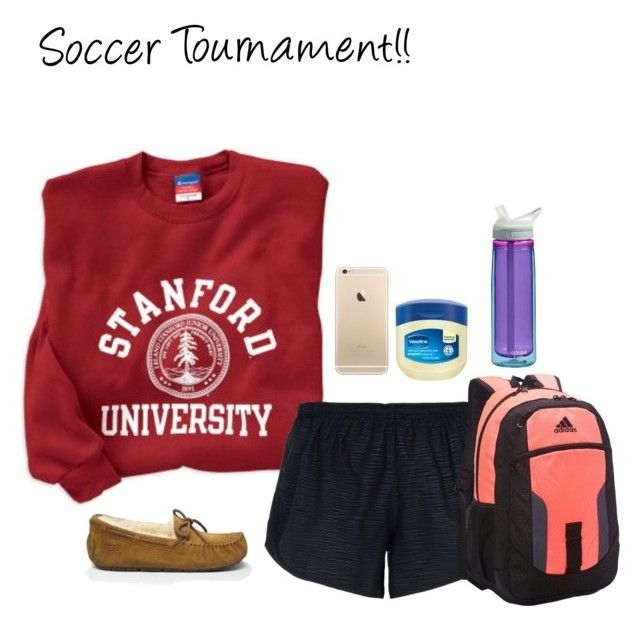 """""""Soccer Tournament (D)"""" by mama1161 ❤ liked on Polyvore featuring UGG Australia, NIKE, adidas, CamelBak, soccer, tournament and iheartsoccer"""