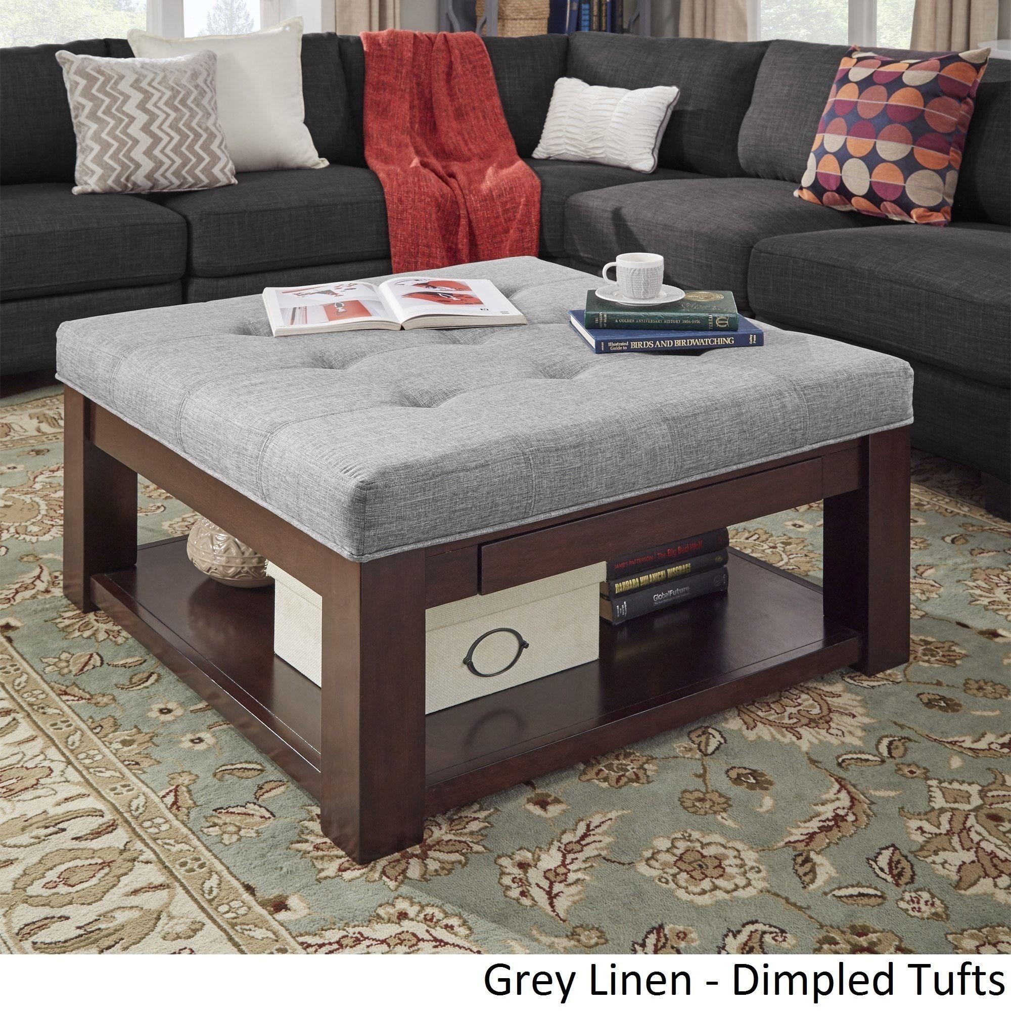 Surprising Lennon Espresso Square Storage Ottoman Coffee Table By Machost Co Dining Chair Design Ideas Machostcouk