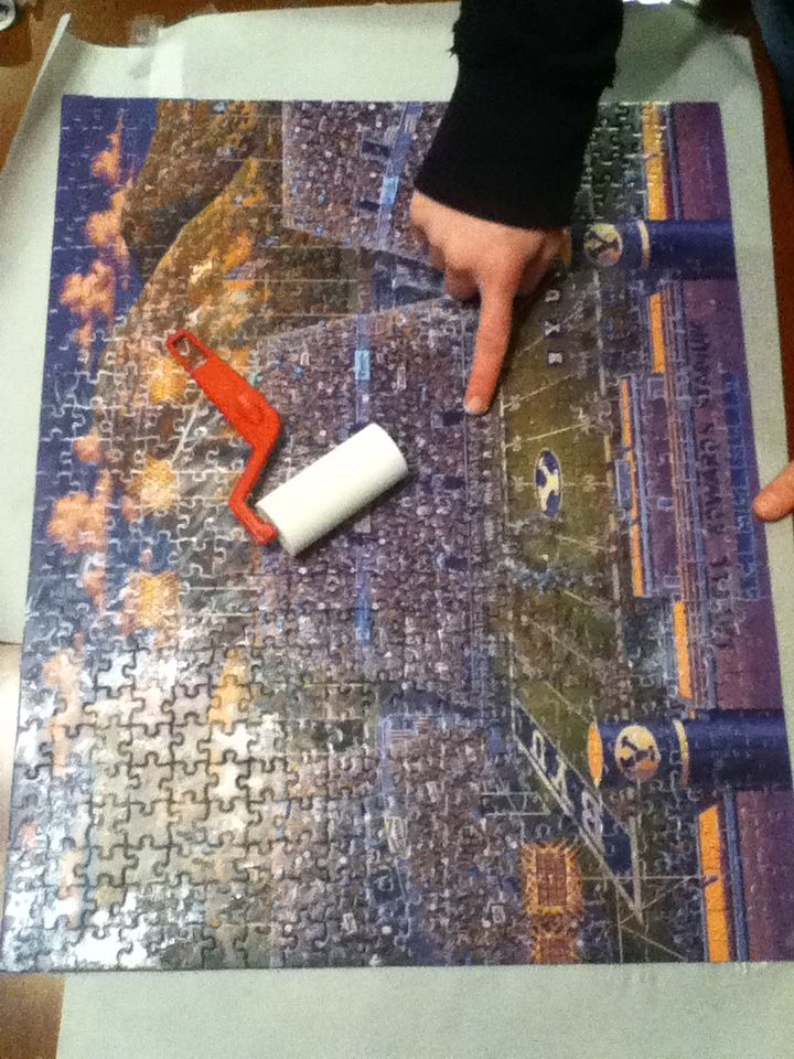 If you ever modge podge a puzzle, instead of using a roller