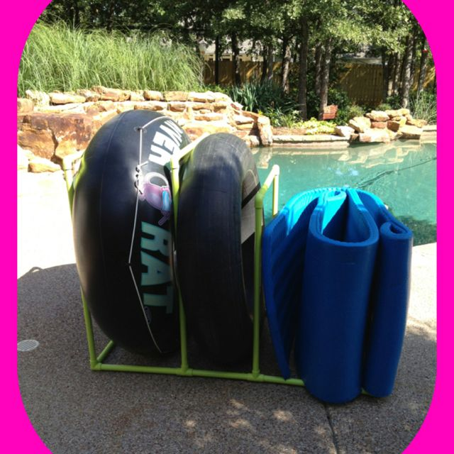 Pool Toy Storage Diy: PVC Pool Float And Tube Holder
