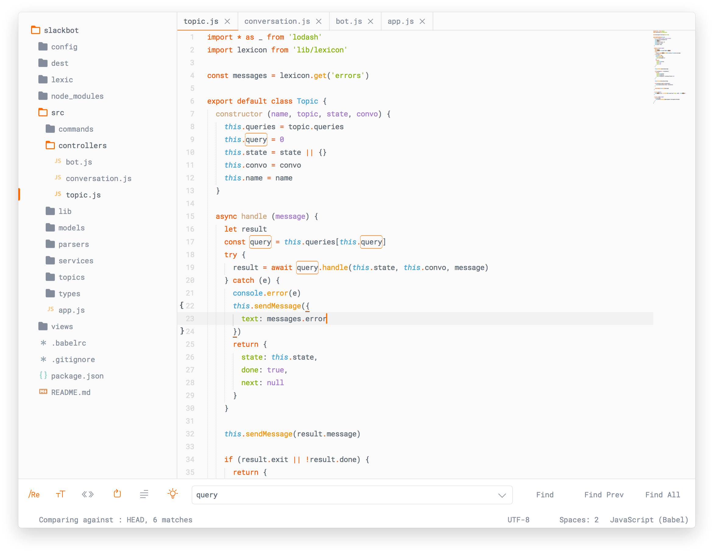 Ayu light theme para sublime text