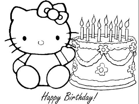 Maxresdefault Jpg 1017 765 Hello Kitty Colouring Pages Hello Kitty Coloring Birthday Coloring Pages